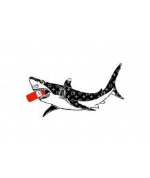 畫 - 塗鴉LV鯊魚油畫 時尚有型 部屋首選