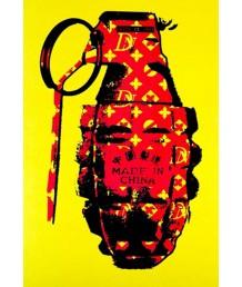 畫 - 塗鴉中國製造手榴彈 時尚有型 部屋首選
