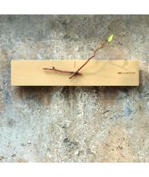 掛鐘 - 原木樹枝掛鐘 綠色森林 悠然自得