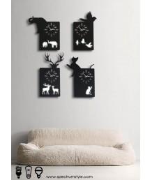 掛鐘 - 動物LED壁燈掛鐘 精美經典 潮人之選