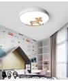 天花燈 - 簡約木馬LED天花燈 優美簡單 節能之選 附遙控控制光度及顏色