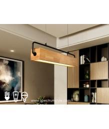 吊燈 -  現代原木吊燈 自然氣息 辦公室首選