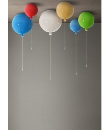 天花燈 - 藍色氣球升空玻璃吊燈 童話世界 型燈之最