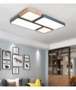 天花燈 - 現代簡約木材LED天花燈 簡約有型 環保節能 附遙控器