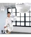 吊燈 - 現代設計師玻璃凸透镜LED吊燈 型格豪邁 潮人首選
