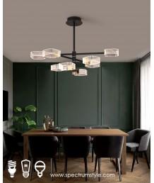吊燈 - 現代幾何LED 6頭吊燈 簡潔優美 型人首選