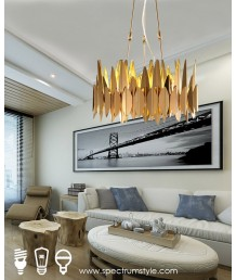 吊燈 -  現代金葉吊燈 優美典雅 型燈之最