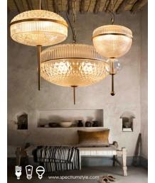 吊燈 - 經典復古玻璃吊燈 經典品味 懷舊之選
