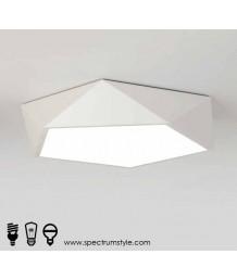 天花燈 - LED幾何吸頂燈 優美簡單 節能之選 附變色調光暗搖控