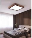 天花燈 - 胡桃木方型吸頂燈 優美簡單 品味之選