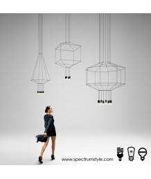吊燈 - LED多邊線型4頭天花燈 科技品味 未來之選