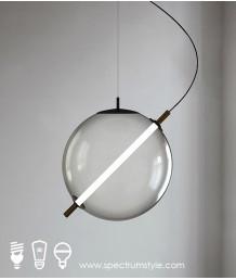 吊燈 -  現代設計師玻璃球LED吊燈 時尚輕巧 潮人必備