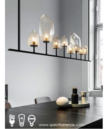 吊燈 - 經典設計師玻璃石頭吊燈 型人部屋 家中亮點