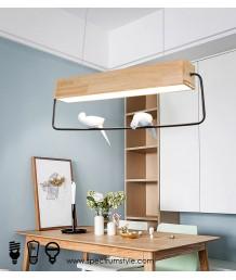 吊燈 -  現代原木小鳥吊燈 自然氣息 綠色首選