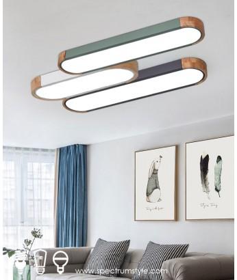 天花燈 - 馬卡龍木材天花燈 優美簡單 品味之選