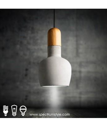 吊燈 - 日式仿水泥LED吊燈 簡潔優美 浪漫生活