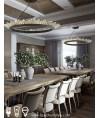 吊燈 -  現代環型水晶LED吊燈 優美典雅 型燈之最