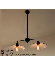 吊燈 - 復古三頭工業吊燈 簡單經典 潮人型燈
