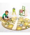 地毯 - 花園大樹圓形地毯 時尚有型 每平方呎$100 歡迎訂造