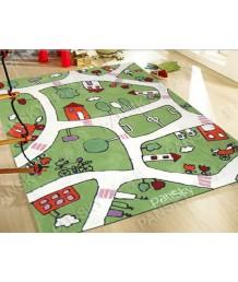 兒童地毯 - 卡通城地毯 可愛活潑 色彩鮮艷 每平方呎$100 歡迎訂造