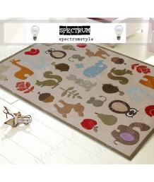 兒童地毯 - 動物拼圖地毯 可愛活潑 色彩鮮艷 每平方呎$100 歡迎訂造