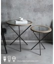 設計師檯  - 設計師工業風玻璃茶几 外型時尚 部屋必備