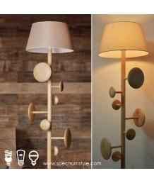 座地燈 - 三腳原木掛衣架座地燈 簡單優雅 品味之選