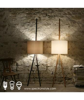 座地燈 - 原木座地燈 倚壁光影 品味之選