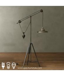 座地燈 - 復古工業懸吊座地燈 懷舊品味 潮流之選
