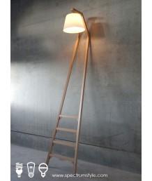 座地燈 - 經典靠牆木座地燈 簡單優雅 品味之選