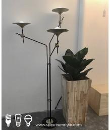 座地燈 - 經典復古三頭座地燈 設計特別 品味之選