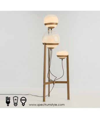座地燈 - 復古經典玻璃球座地燈 懷舊品味 家居必備