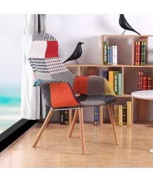 設計師椅 - 百家布實木餐椅 優閒時尚精選 部屋必備