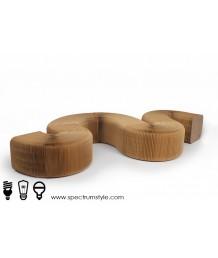 設計師椅 - 牛皮紙摺疊長椅 設計獨特 環保達人必購