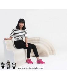 設計師椅 - 牛皮紙摺疊靠背長椅 設計獨特 環保達人必購