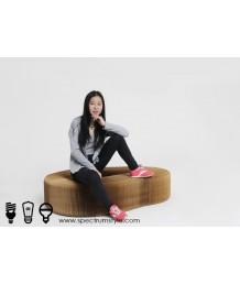 設計師椅 - 牛皮紙摺疊小椅 設計獨特 環保達人必購