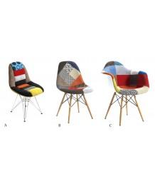 設計師椅 - 百家布拼布餐椅 優閒時尚精選 部屋必備