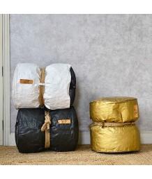 豆豆袋 - 法國Lazy Bag 麻繩紙質圓桶豆袋凳子