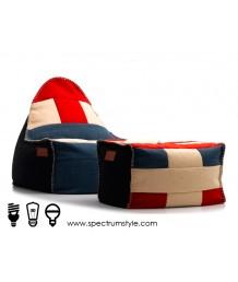 豆豆袋 - 法國Lazy Bag歐式豆袋沙發連腳踏