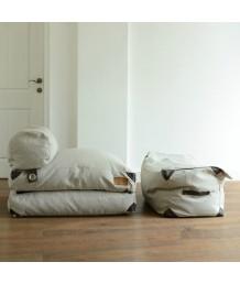 豆豆袋 - 法國Lazy Bag 仿皮箱豆袋沙發床連腳踏