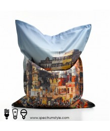 豆豆袋 - 數碼打印印度街景豆袋 時尚有型 豪宅首選