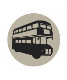 地毯 - 圓形英國巴士圖案地毯 經典時尚 歡迎訂造