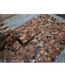 地毯 - 印度名牌Sharde舊牛仔褲皮牌拼接手工地毯 經典製作 收藏絕品