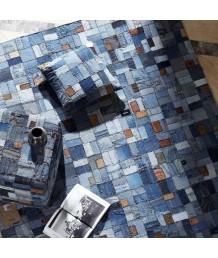 地毯 - 印度名牌Sharde舊牛仔褲拼接手工地毯 經典製作 收藏絕品