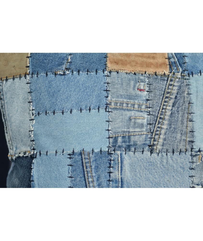 地毯- 印度名牌sharde旧牛仔裤拼接手工地毯 经典制作