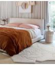 地毯 - 立體3D白玫瑰圖案羊毛地毯 時尚有型 部屋必備