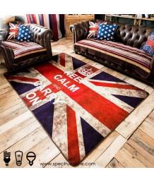 地毯 - 英國國旗圖案數碼印刷地毯 時尚有型 潮人首選
