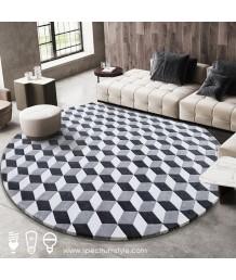 地毯 - 圓形藝術圖案地毯 時尚有型 歡迎訂造