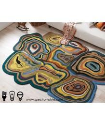 地毯 - 印度製新西蘭羊毛藝術圖案地毯 時尚有型 潮人首選