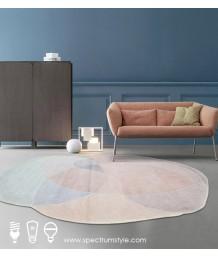 地毯 - 不規則彩色波浪圖案地毯 時尚有型 部屋必備 歡迎訂造